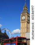Famous Big Ben Clock Tower Wit...