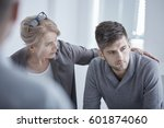 psychologist supporting young... | Shutterstock . vector #601874060