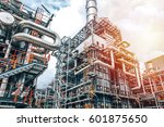 close up industrial zone the... | Shutterstock . vector #601875650