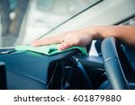 hand cleaning the car interior... | Shutterstock . vector #601879880