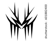 vector tribal tattoo designs.... | Shutterstock .eps vector #601882400