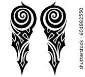 vector tribal tattoo designs.... | Shutterstock .eps vector #601882550