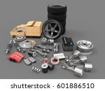 car parts on background. car... | Shutterstock . vector #601886510