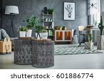 stylish flat apartment with...   Shutterstock . vector #601886774