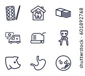 care icons set. set of 9 care... | Shutterstock .eps vector #601892768
