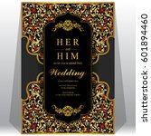 wedding invitation card... | Shutterstock .eps vector #601894460
