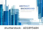 technology abstract blue... | Shutterstock .eps vector #601895684