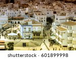 a view of the town of albufeira ... | Shutterstock . vector #601899998