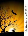 halloween night background.... | Shutterstock .eps vector #60191161