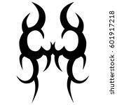 tribal tattoo art designs.... | Shutterstock .eps vector #601917218