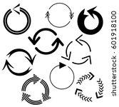big set of arrows for design... | Shutterstock .eps vector #601918100