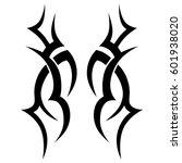 vector tribal tattoo designs.... | Shutterstock .eps vector #601938020