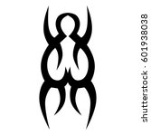 vector tribal tattoo designs.... | Shutterstock .eps vector #601938038