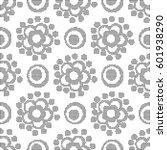 halftone round black seamless... | Shutterstock .eps vector #601938290