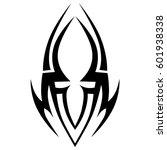 tribal tattoo art designs.... | Shutterstock .eps vector #601938338