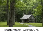 lonely cabin in the woods | Shutterstock . vector #601939976