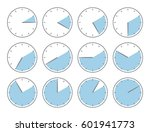 blue clock  five minute or one... | Shutterstock .eps vector #601941773