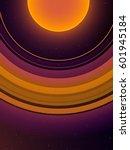 Orange Planet With Giant Orang...