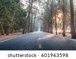 on the way with sunrise morning ... | Shutterstock . vector #601963598