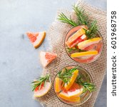 grapefruit rosemary fresh... | Shutterstock . vector #601968758