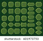 collection of green borders and ... | Shutterstock .eps vector #601973753