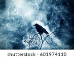 crow in the windmill in... | Shutterstock . vector #601974110