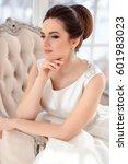 close up portrait of beautiful... | Shutterstock . vector #601983023