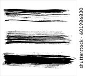 set of ink vector brush strokes.... | Shutterstock .eps vector #601986830
