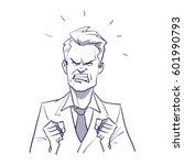 angry business man  concept for ... | Shutterstock .eps vector #601990793
