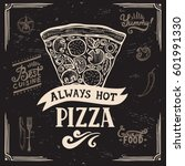 pizza menu graphic element for... | Shutterstock .eps vector #601991330