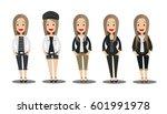 young fashion girls... | Shutterstock .eps vector #601991978