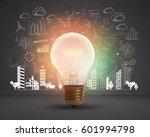 lightbulb.concept for new ideas ... | Shutterstock . vector #601994798