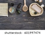 organic spa cosmetic and... | Shutterstock . vector #601997474