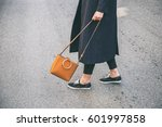 fashion blogger outfit details. ...   Shutterstock . vector #601997858
