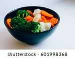 Plate With Cooked Vegetables...