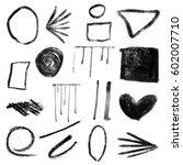 a set of hand drawn geometric... | Shutterstock . vector #602007710