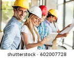 group of architects and experts ... | Shutterstock . vector #602007728