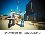 group of architects and experts ... | Shutterstock . vector #602008340