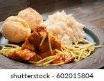 traditional brazilian chicken... | Shutterstock . vector #602015804