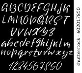 hand drawn font made by dry... | Shutterstock .eps vector #602017850