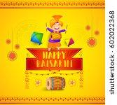illustration of happy baisakhi...   Shutterstock .eps vector #602022368