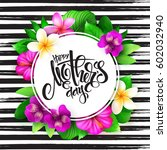 vector mothers day greetings... | Shutterstock .eps vector #602032940