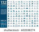 mega set and big group  real... | Shutterstock .eps vector #602038274