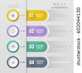 infographics design template... | Shutterstock .eps vector #602044130