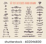 set of hand drawn text dividers ... | Shutterstock .eps vector #602046830