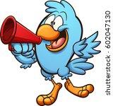 bird speaking on megaphone....
