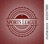 sports league retro red emblem | Shutterstock .eps vector #602047880