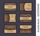 vector business card design... | Shutterstock .eps vector #602050460
