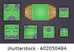 vintage wedding invitation... | Shutterstock .eps vector #602050484