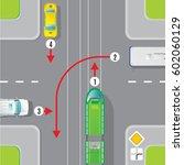 urban traffic top view concept... | Shutterstock .eps vector #602060129